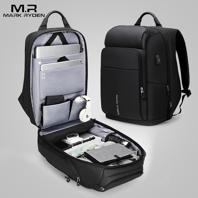 Мужской женский рюкзак из натуральной кожи, 15,6, противоугонная большая вместительность, Mochila, сумки на плечо для ноутбука, мужские сумки для ... - 6