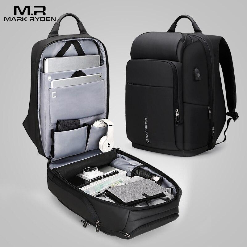 OZUKO Multifunktions 15,6 Laptop Rucksack Männer Business Diebstahl Rucksäcke Große Männliche Reisetasche Wasserdichte USB Lade Mochila - 6