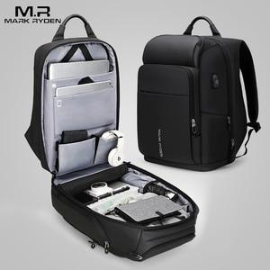Image 2 - Mark Ryden hombres mochila multifunción USB de carga de 17 pulgadas portátil bolso de gran capacidad impermeable bolsas de viaje para los hombres