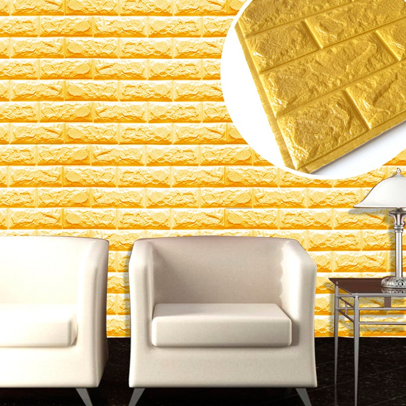 Hot 60*60cm Simulation Brick 3D Wall Stickers EVA Self Adhesive Wall ...