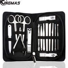 15 Pieces Stainless Steel Manicure Pedicure Set, Hygiene Kit Includes Cuticle Remover with Portable Travel Case Beauty Care Tool