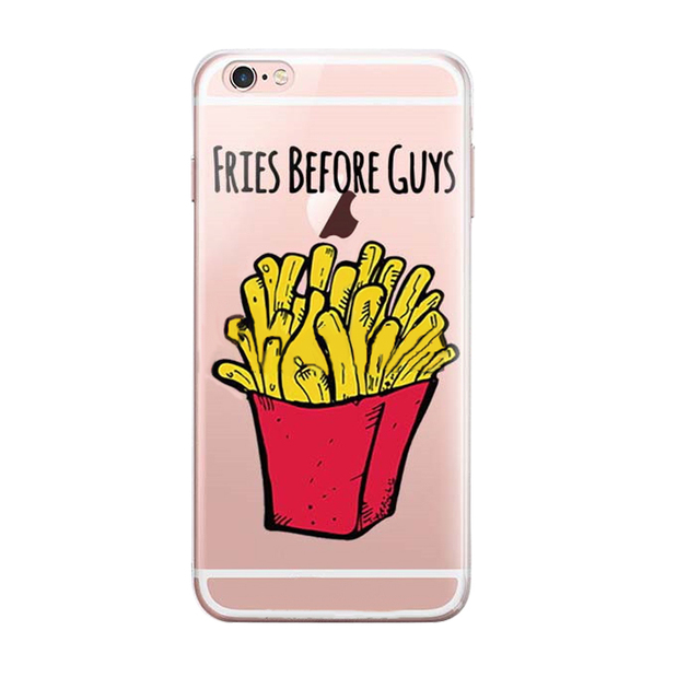 Etui Frytki hamburger iphone 6 case 5 5S 6 s plus
