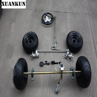 XUANKUN Modified Drift Kart 168CC Karting Modified Rear Axle Suspension Front Axle Steering Kit 6 Inch