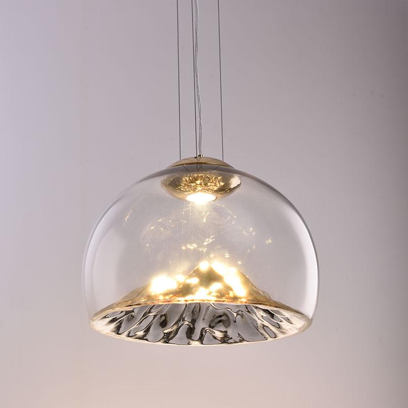 Modern Glass Pendant Light Dining Room Light Hanging Island Light Kitchen Lighting Fixture Designer Golden Mountain Hanging Lamp