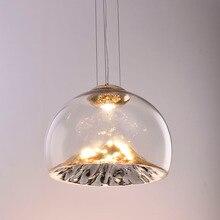 Modern Glass Pendant Light Dining Room Hanging Island Kitchen Lighting Fixture Designer Golden Mountain Lamp