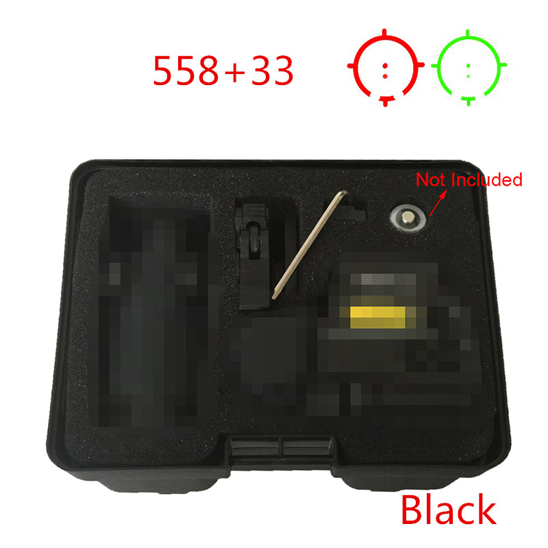 558+33 Holographic Red Green Dot Sight Scope For 20mm Weaver Rail Mounts for Tactical Hunting Airsoft RL5-0043 hunting combo metal green dot laser sight led flashlight 200lm 3w with 20mm rail weaver picatinny for glock 17