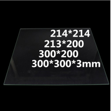 214*214 213*200 300*200 300*300*3mm Tempered glass heatbed Borosilicate Glass Plate For RepRap CR10 3d printer parts hotbed 3d printer heated set heatbed mk2a aluminium bed mount plate borosilicate glass plate for reprap prusa mendel