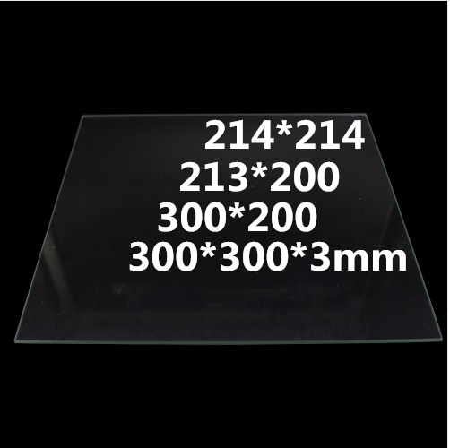 214*214 213*200 <font><b>300*200</b></font> 300*300*3mm Tempered glass <font><b>heatbed</b></font> For RepRap CR10 3d printer parts hotbed image
