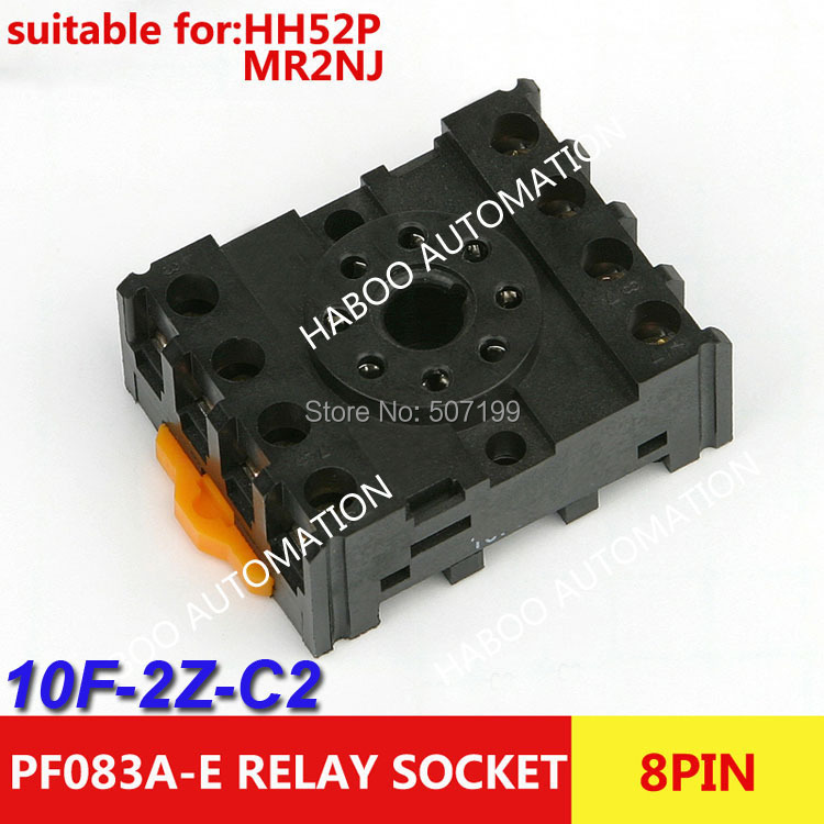 HABOO Relay socket (PF083A-E) electrical switch socket pcb type 8 pin relay socket 10pcs ...