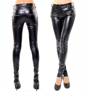 Livraison gratuite mode femme slim haute qualité Faux daim pu cuir pantalon skinny crayon pantalon femmes pantalon/S-XL