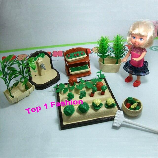 new arrival little girl birthday gift toys working on farm for mini dolll for mini barbie kelly doll mini furniture