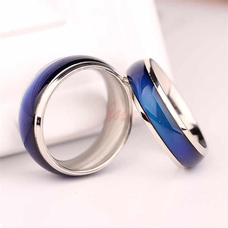 Изысканные ювелирные изделия кольцо-Определитель настроения Цвет изменить чувства эмоции настроение кольцо Сменные ремешок Температура кольцо