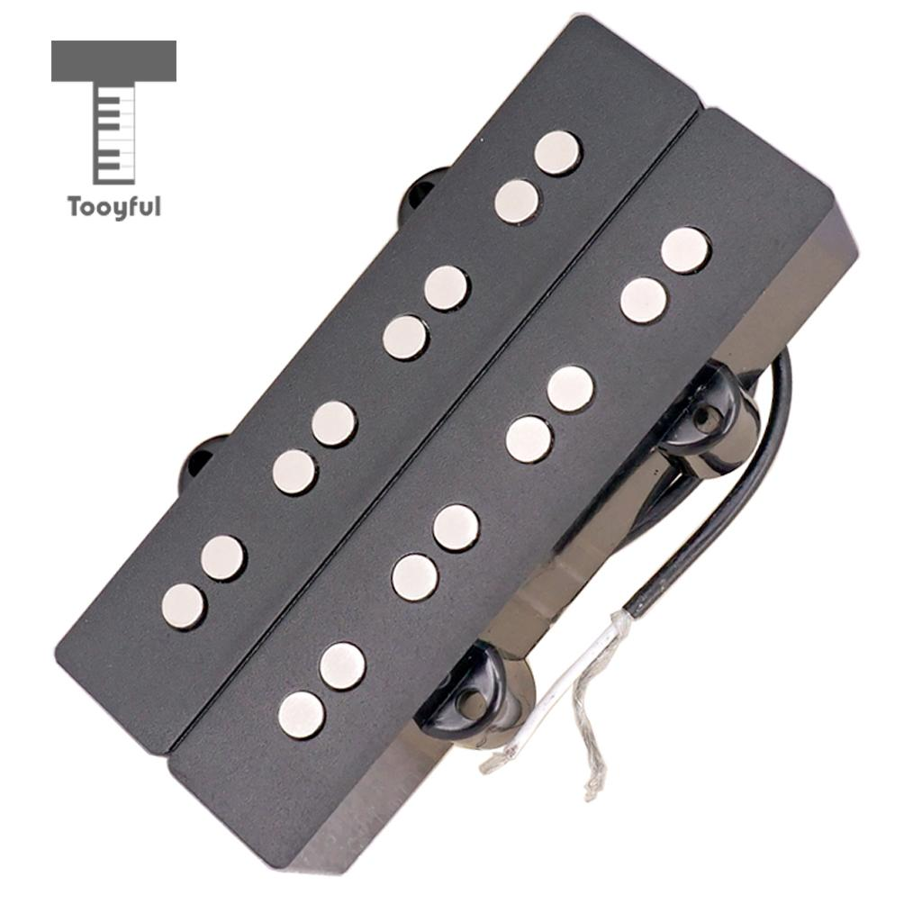 Tooyful Bass Guitar Humbucker Double Coil 4 String Pickups for Electric Bass Parts Accessory Replacement niko black humbucker double coil pickups 50mm neck 52mm bridge for fender strat sq electric guitar pickups