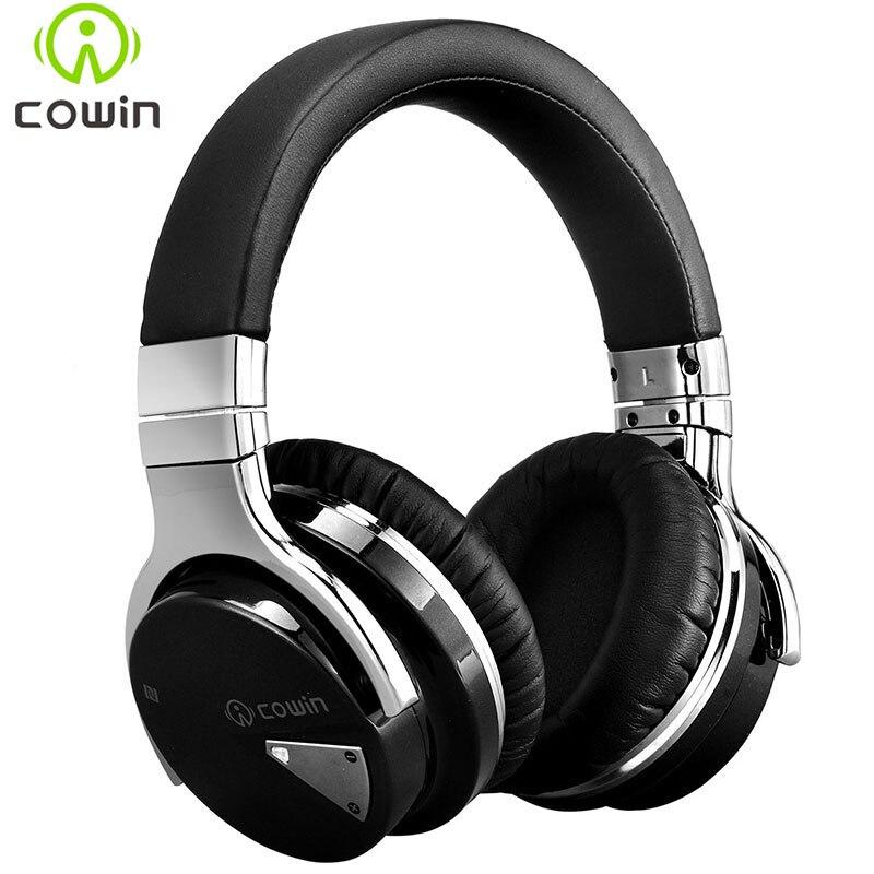 Cowin E-7 casque bluetooth casque sans fil anc actif suppression de bruit casque écouteur sur l'oreille stéréo casque de basse profonde