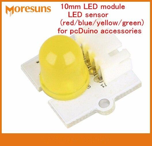 Fast Free Ship 10mm LED sensor module(red blue yellow green) for pcDuino  Raspberry Pi accessories modules 8be19557103e