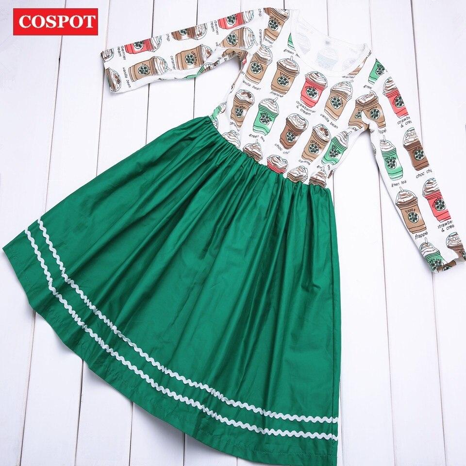 COSPOT 2018 New Girls Dress Spring Cup Baby Dress Kids