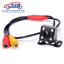 140 Degree Wide Waterproof Reverse camera  Car Rear View Parking Camera With HD 4 LED Lights For DVD Back up