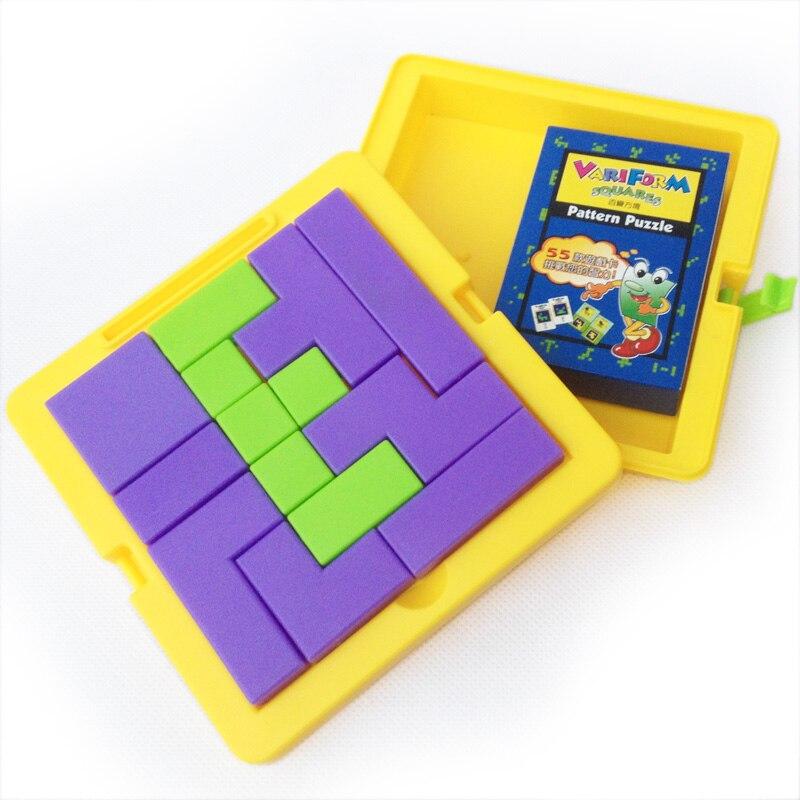 Changeable variform squares mystery Tetris pattern puzzle ...