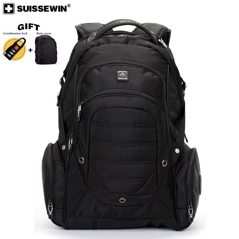 2019 스위스 노트북 가방 브랜드 방수 대용량 나일론 balck 배낭 노트북 bagpack 여행 여성과 남성을위한 sac a dos-에서백팩부터 수화물 & 가방 의  그룹 2