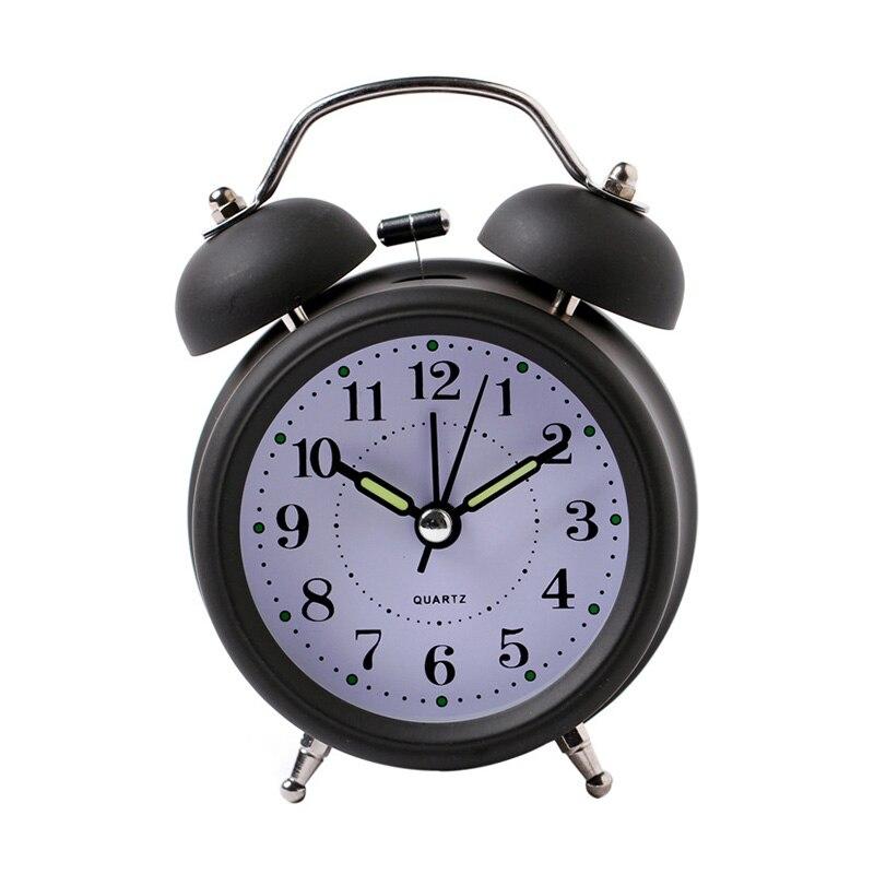 Hot Sale Alarm Clock Classical Double Bell Silent No Ticking Desk Table Alarm Clock Bedroom Office Bedside Clock