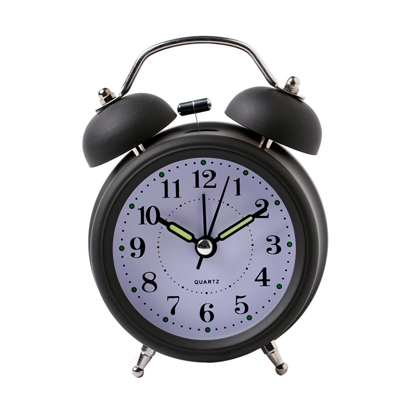 Hot Sale Alarm Clock Classical Double Bell Silent No Ticking Desk Table Alarm Clock Bedroom Office Bedside Clock