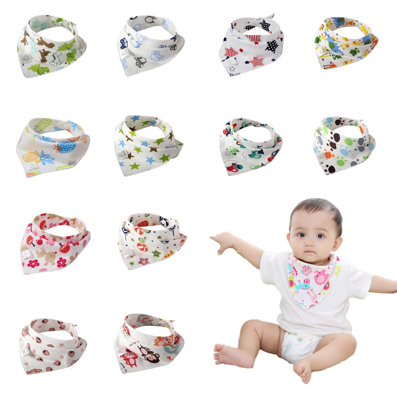 100% Cotton Bib For Baby Infant Adjustable Toddler Scarf Newborn Bandana Bibs With Double-layer Button Baby Boy Girl Stuff