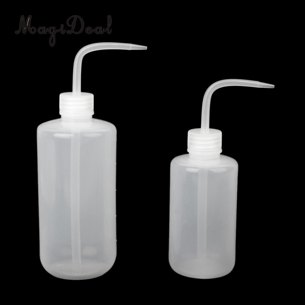 MagiDeal 500ML Durable 100/250/500ML Plastic Plant Flower Watering Bottle for Garden Indoor Transparent Light Water Tool