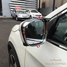 Para Nissan x-trail Rogue T32 Retrovisor Cubierta Del Espejo Retrovisor Espejos Lluvia Visera xtrail 2014 a 2016 ABS Car-styling