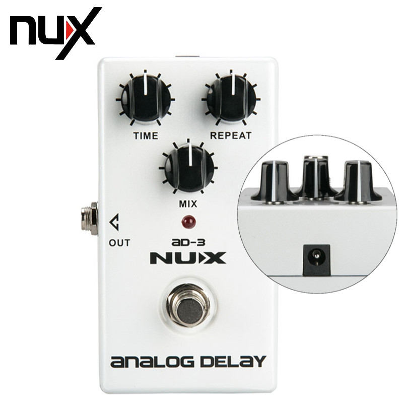 NUX AD-3 Guitar Effects Pedal Analog Delay Effect 300ms Max Delay Time Warm Echoes Sound True Bypass Guitar Parts Free Shipping nux hg 6 guitar distortion 3 gain stages electric effect pedal true bypass led indicator for rock solo durable free shipping