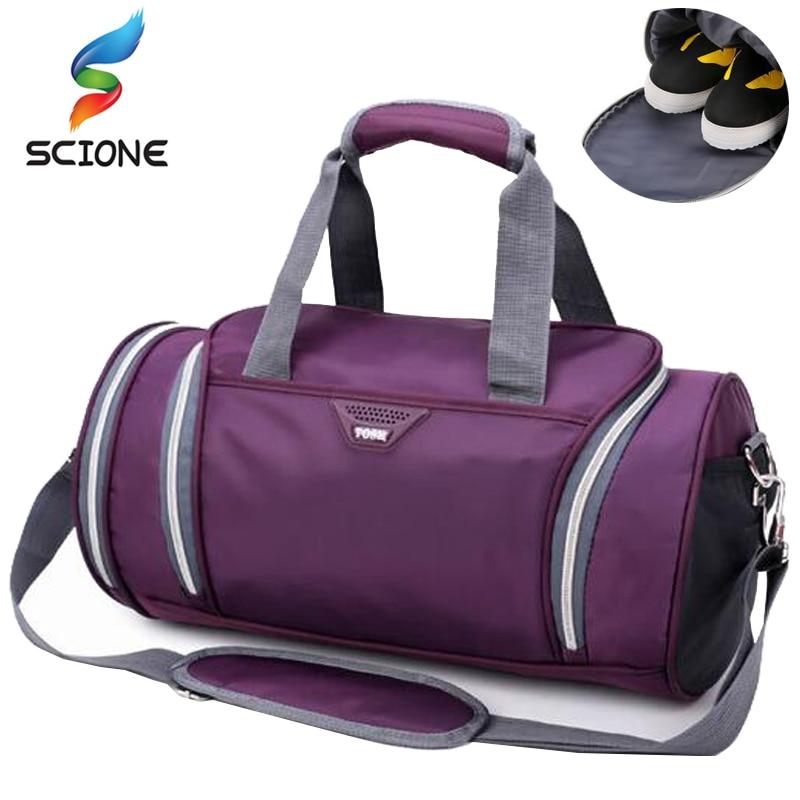 8d0361547 Nuevo bolso deportivo profesional de entrenamiento bolsa de gimnasio para  hombres y mujeres bolsas de Fitness bolso multifunción duradero al aire  libre ...