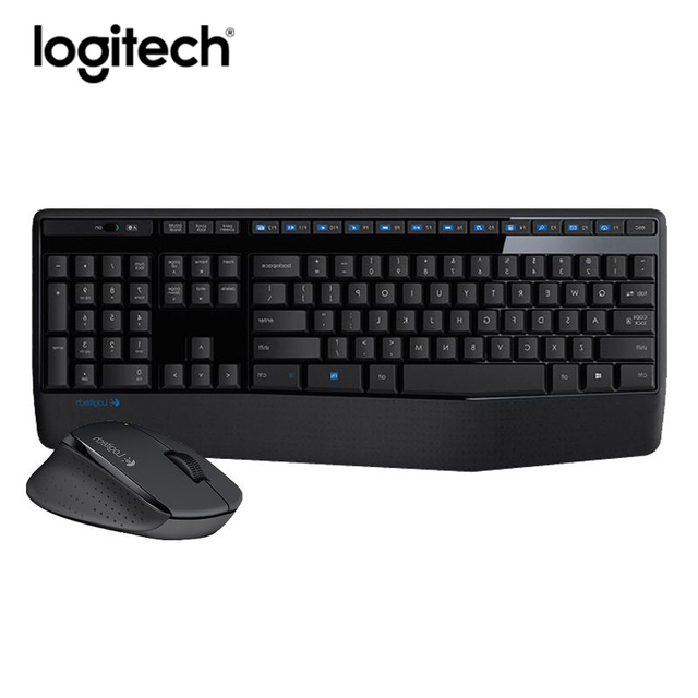 32bda96a8c2 Logitech MK345 Wireless Keyboard Mouse Set Gaming Lap Top PC Gamer Original  Ergonomics Waterproof Mute Keyboard