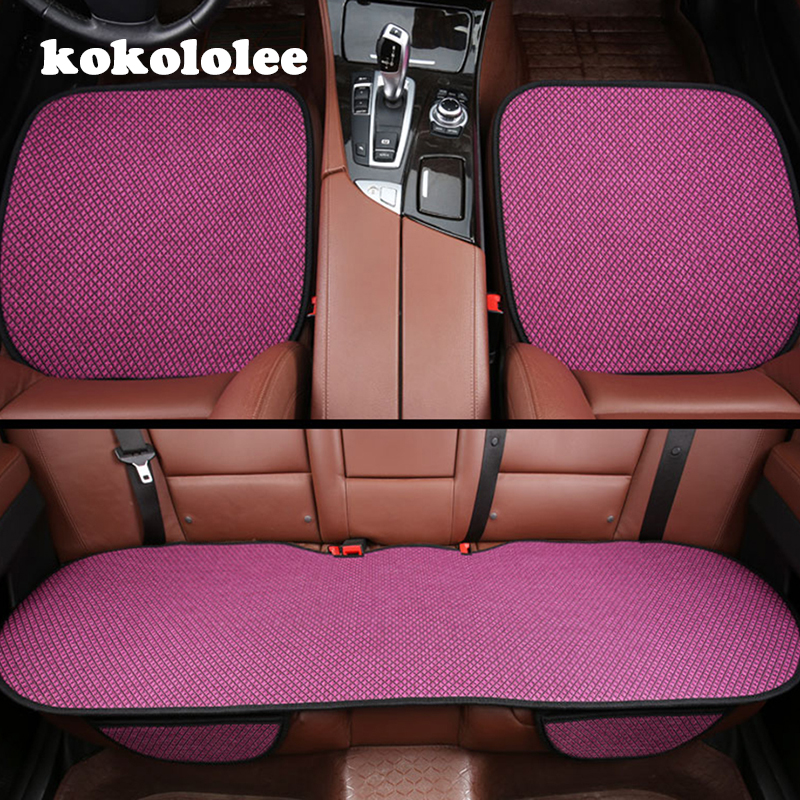 KOKOLOLEE 3Pcs/Set car seat covers for VW Golf Audi A4 BMW ix35 Benz Honda Civic toyota lada Universal Seat Covers Car Chair Pad