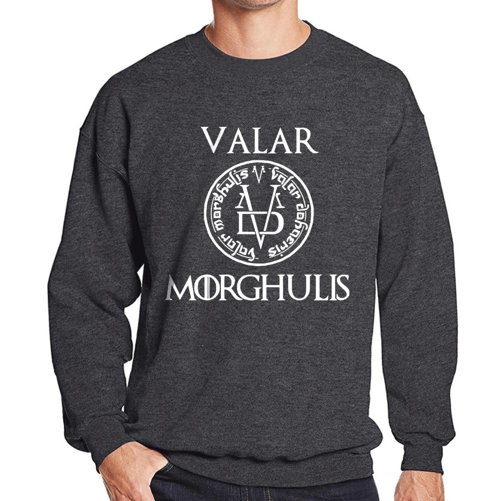 2019 autumn winter casual round neck hoodies man's Game of Thrones fitness clothing men sportwear fleece sweatshirts pullovers