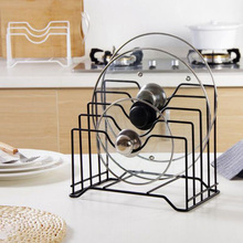 Kitchen Accessories Pot Lid Rack Stainless Steel Pan Cover Stand Spoon Holder Organizer Cutting board Storage
