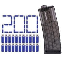 Worker Black color 200 pcs Soft Bullet 3.8cm Whirlwind Flat Head Short Bullet +15 Bullets Ammo Cartridge Dart Clips for Nerf