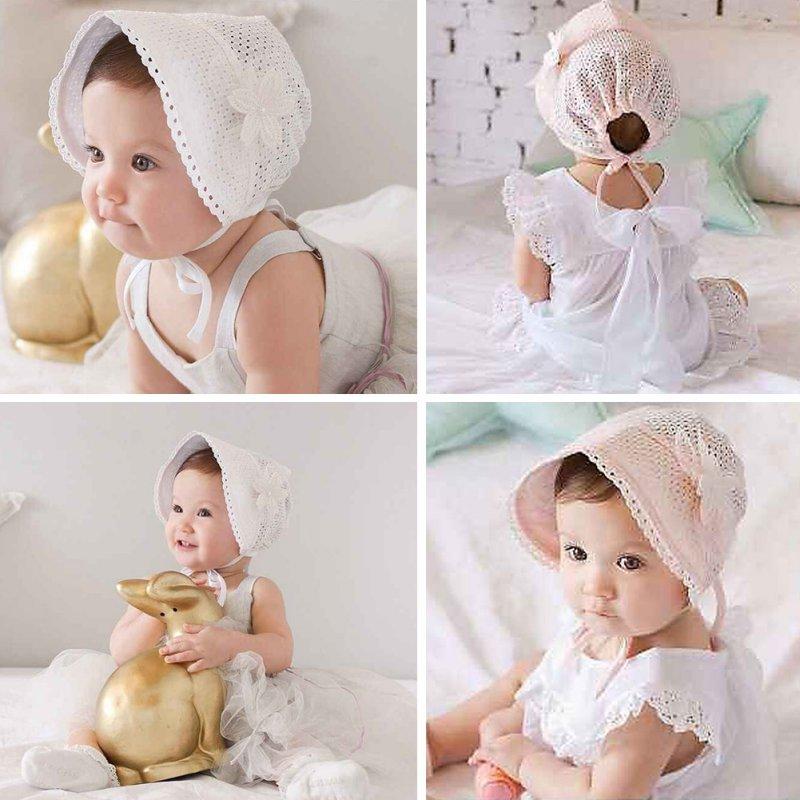 1Pcs Lovely 2Colors Soft Princess Hat Baby Girl Beanies Cap Sun Hats Newborn