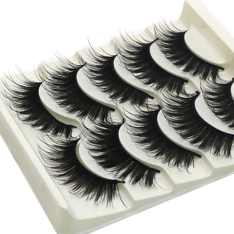 50 Pairs Eye Lash Extension Tools Fake Lashes Long Thick False Eyelashes Handmade Messy Eyelashes For Building Mink Makeup Tips ...