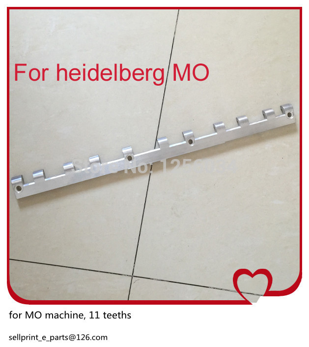 1 piece printing gripper bar for mo heidelberg, 11 teeths 43.013.020 total 160 piece heidelberg part pull rail sensor gripper oil filter valve gto52 gripper bar potentiometer motor bearing vibrator