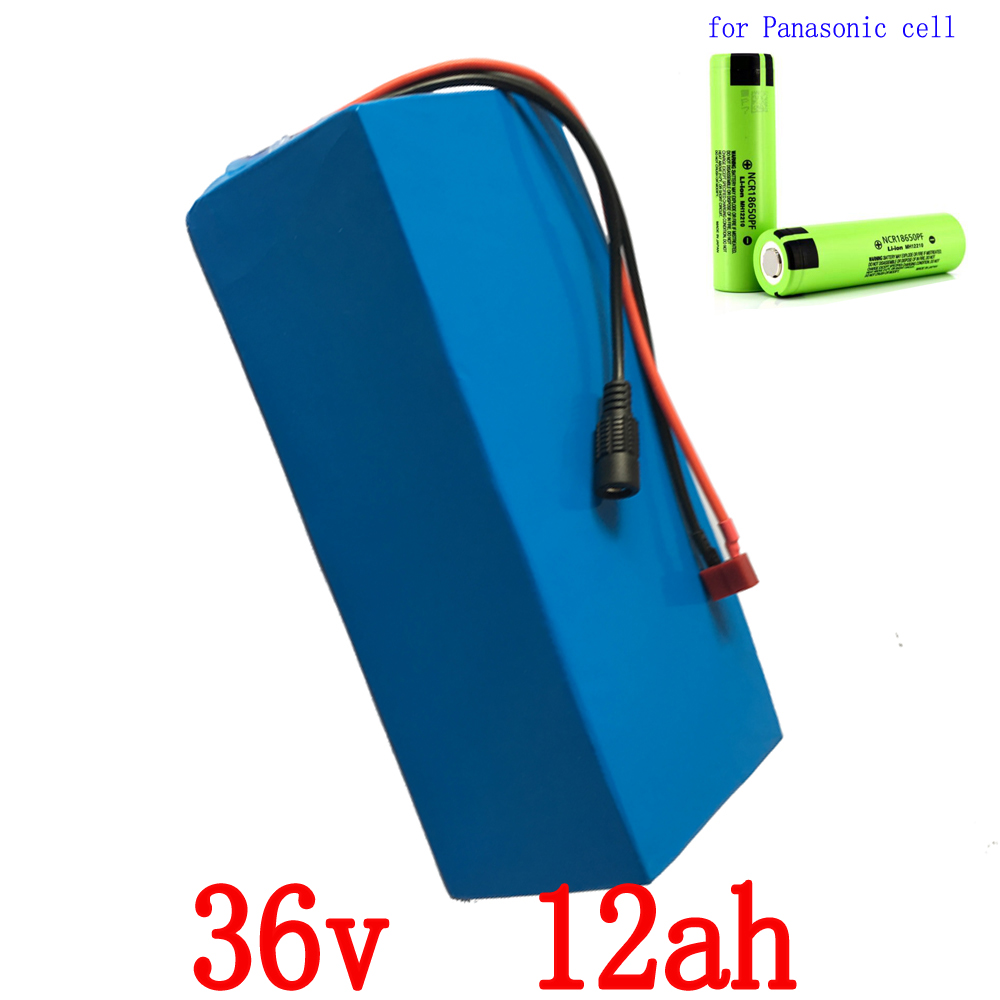 36V Electric Bike battery 36V 12AH 500W use for Panasonic cell Lithium Battery E-bike battery with 15A BMS and 2A charger diy e scooter battery pack 36v li ion electric bike battery 36v 12ah lithium battery with bms and charger