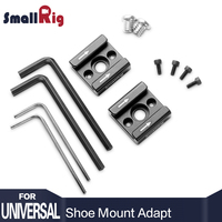 SmallRig 2PCS Aluminum Cold Hot Shoe Mount Adapter With 1 4 Mounting Screws For Mounting Flash