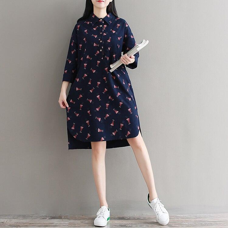P Ammy Cotton   Linen Retro Checkered Mid-Long Blouse Dress lagenlook  voguees Trend long shirts linen tunics Cardigan 1b54c2251d8e