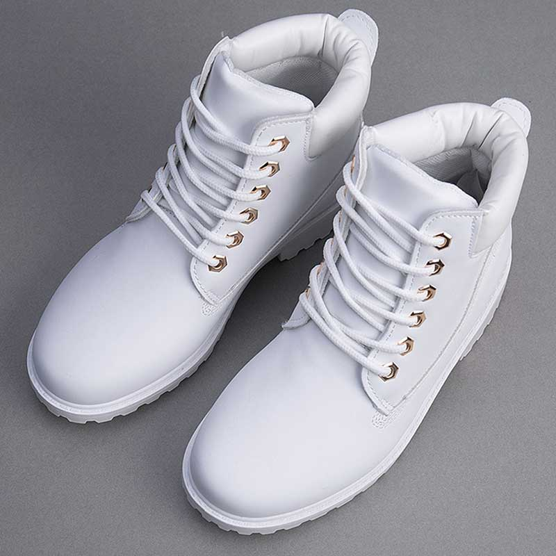 Image 2 - Designer Winter Ankle Snow Boots For Women Female Warm Fur White Boots Lace Up Bota Feminina Shoes For Women Botas Mujer-in Ankle Boots from Shoes