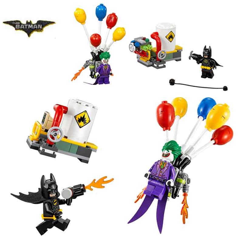 Bela 10626 Batman Movie The Joker Balloon Escape Man-Bat Building Block Toys Children Gifts Batman 70900 lepin 07048 batman movie the joker balloon escape 70900 man bat building block 124pcs bricks toys gift for children batman