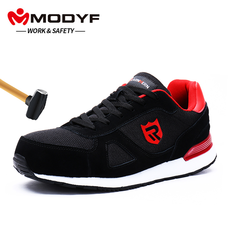 Safety Shoes Mens Steel Toe Lightweight Anti-smashing Indestructible Breathable Sneakers Men Outdoor Toe Footwear Work Safety Back To Search Resultsshoes