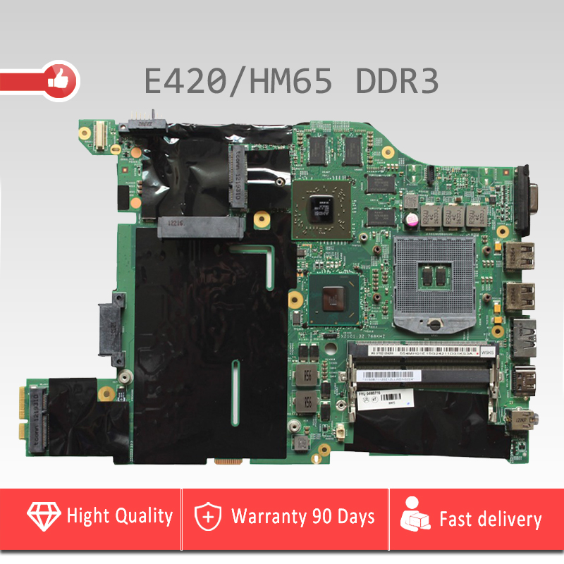 YTAI DDR3 HM65 For Lenovo E420 laptop Motherboard DDR3 HM65 PGA-988B with 8 pcs memory card Mainboard fully Tested for lenovo laptop motherboard g570 piwg2 la 6753p hm65 ddr3 pga989 mainboard