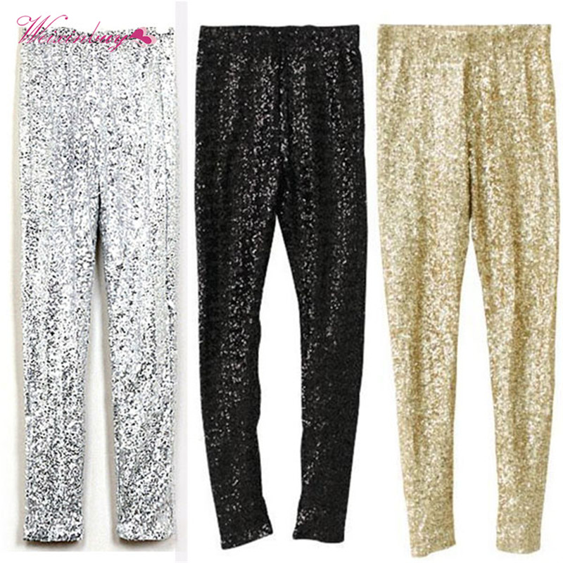 Autumn Woman   leggings   Sexy Stretchy Women Paillette Pencil Pants Trouesers Slim Sequins   Leggings   Pencil Pants lentejuelas