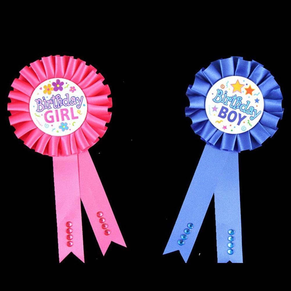 2018 New 1 PC Birthday Girl Boy Award Ribbon Rosette Badge