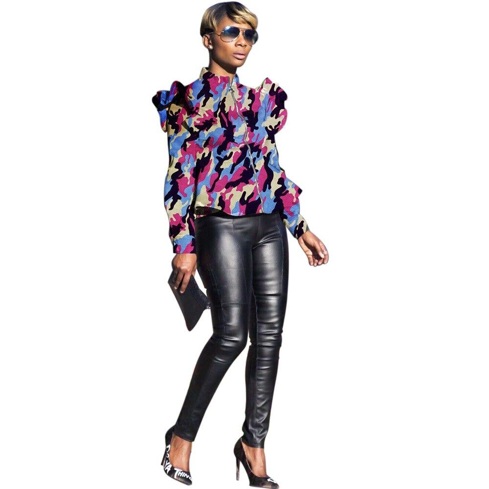 Praktisch Heißer Design Camouflage Digital Print Frauen Mode Kurze Jacke Mantel Frauen Mäntel Seien Sie Freundlich Im Gebrauch
