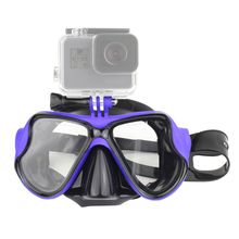 水泳マスク強化ガラスダイビングマスク移動プロヒーロー 7 6 5 4 3 xiaomi 李 4 18K Sjcam eken スキューバマスクのためのアクセサリー