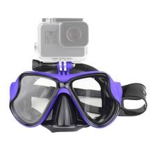 Schwimmen Maske Gehärtetem Gläser Tauchen Maske für GoPro Hero 7 6 5 4 3 für Xiaomi Yi 4 K Sjcam eken Scuba Maske für Go Pro Zubehör